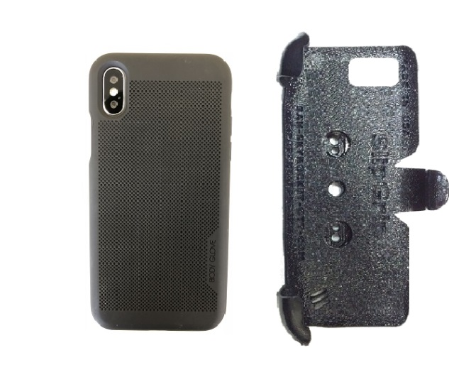 promo code 1a4e5 21bcc SlipGrip PRO Mounts Holder For Apple iPhone X Using Body Glove Mirage Case
