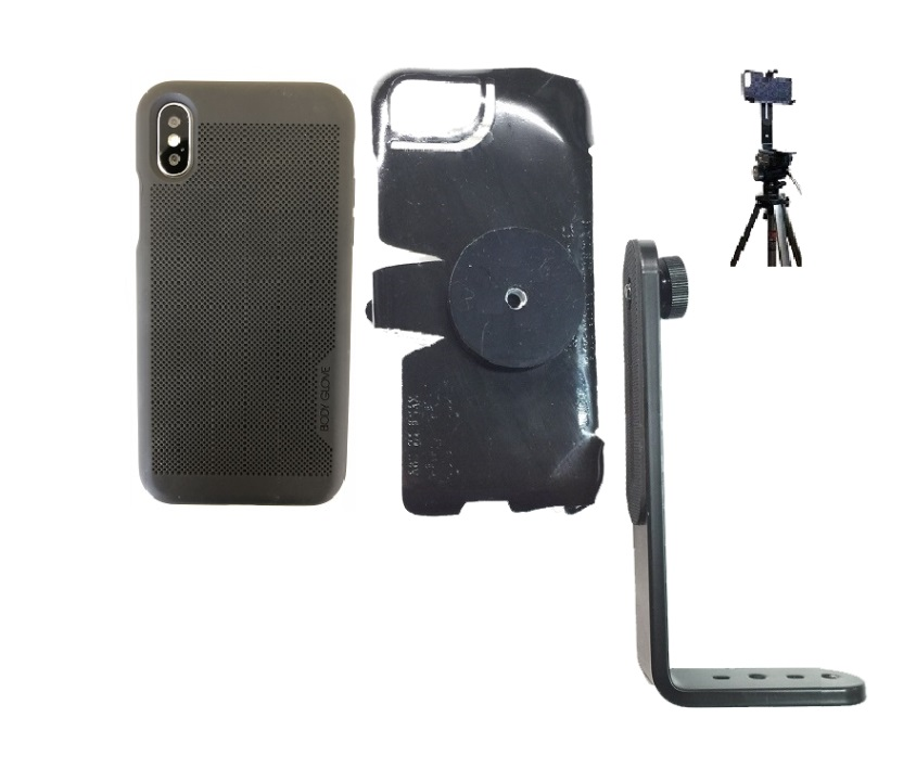 best sneakers e9580 0bfb5 SlipGrip Tripod Mount For Apple iPhone X Using Body Glove Mirage Case