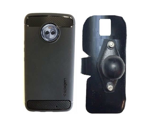 SlipGrip RAM Holder Designed For Motorola Moto X4 Phone Using Spigen Rugged Armor Case