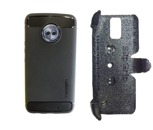 SlipGrip PRO Mounts Holder Designed For Motorola Moto X4 Phone Using Spigen Rugged Armor Case