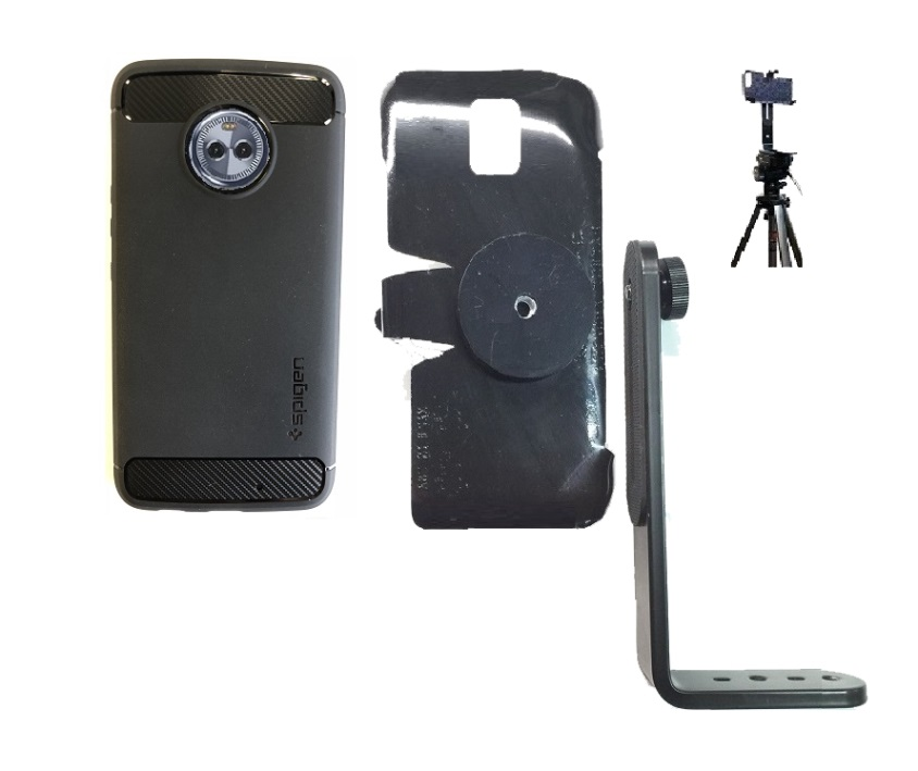 SlipGrip Tripod Mount Designed For Motorola Moto X4 Phone Using Spigen Rugged Armor Case