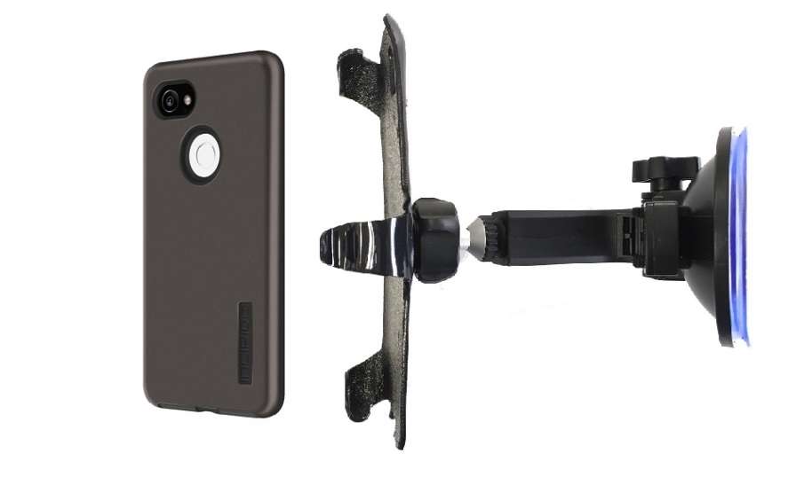 SlipGrip Car Holder Designed For Google Pixel 2 XL Phone Incipio DualPro Case HV