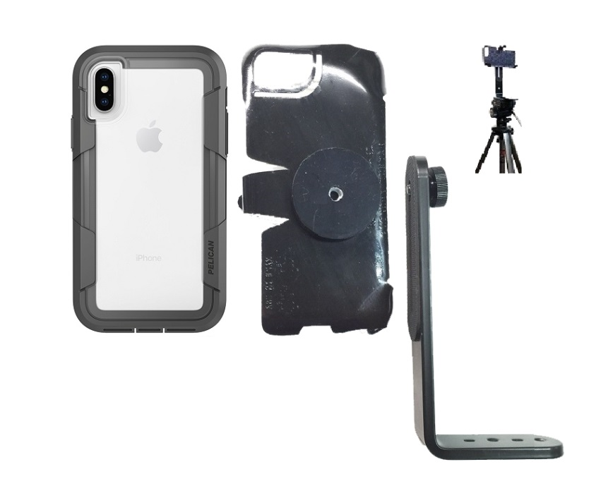promo code e891c fc3ac SlipGrip Tripod Mount For Apple iPhone X Using Pelican Voyager Clear Case