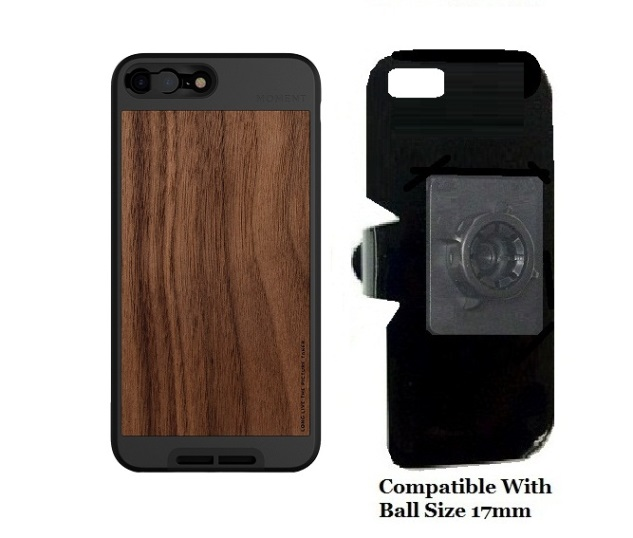 outlet store 015e0 49a6d SlipGrip 17MM Holder For Apple iPhone 8 Plus Using Moment Walnut Wood Case