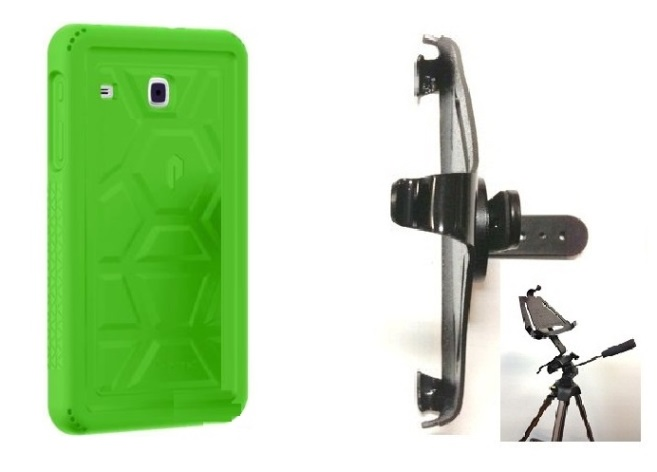 SlipGrip Tripod Mount Designed For Samsung Galaxy Tab E8.0 Tablet Poetic Turtle Skin Shockproof Case