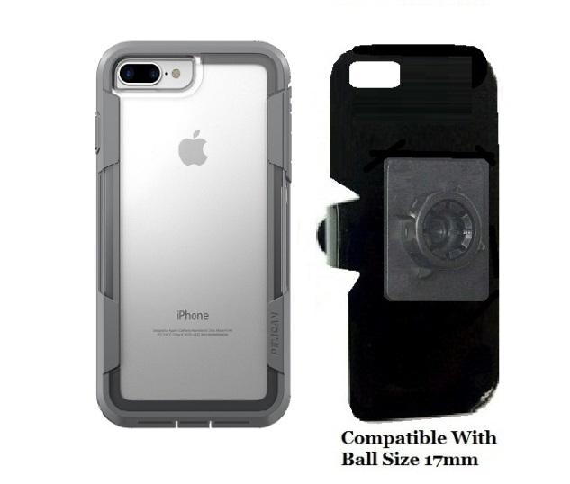 wholesale dealer 15771 4387a SlipGrip 17MM Holder Designed For Apple iPhone 8 Plus Pelican Voyager Clear  Case