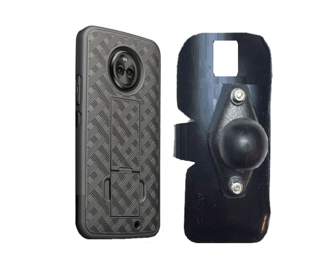 SlipGrip RAM Holder For Motorola Moto X4 Phone Using  Shell Kickstand Case