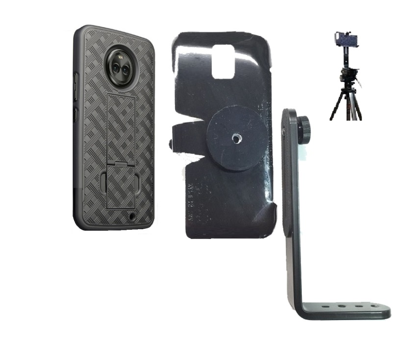 SlipGrip Tripod Mount For Motorola Moto X4 Phone Using  Shell Kickstand Case