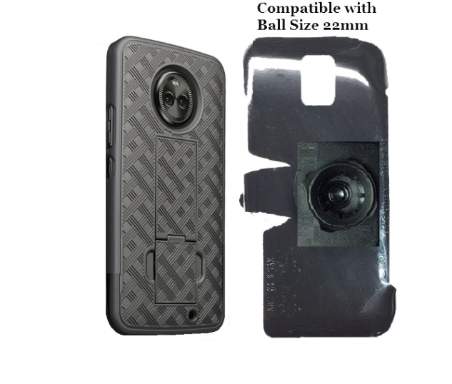 SlipGrip 22mm Ball Holder For Motorola Moto X4 Phone Using  Shell Kickstand Case