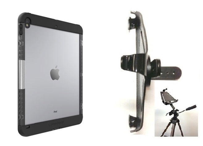 SlipGrip Tripod Mount Designed For Apple iPad Pro 10.5 inch Tablet Lifeproof Nuud Case
