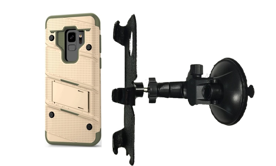 SlipGrip Car Holder For Samsung Galaxy S9 Using Zizo Bolt Case LP
