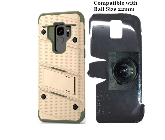 SlipGrip 22mm Ball Holder For Samsung Galaxy S9 Using Zizo Bolt Case