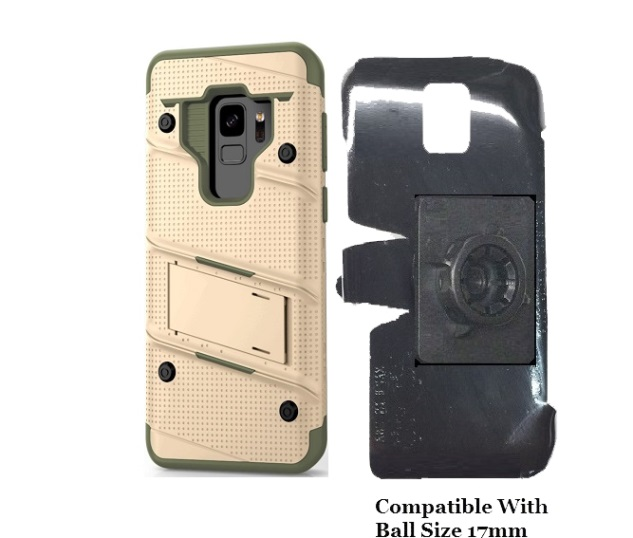 SlipGrip 17MM Holder For Samsung Galaxy S9 Using Zizo Bolt Case