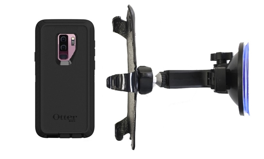 SlipGrip Car Holder For Samsung Galaxy S9 Plus Using Otterbox Defender Case HV