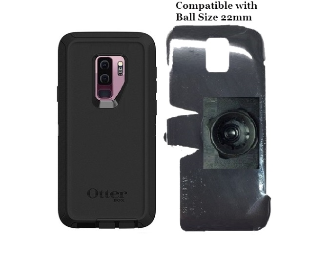 SlipGrip 22mm Ball Holder For Samsung Galaxy S9 Plus Using Otterbox Defender Case