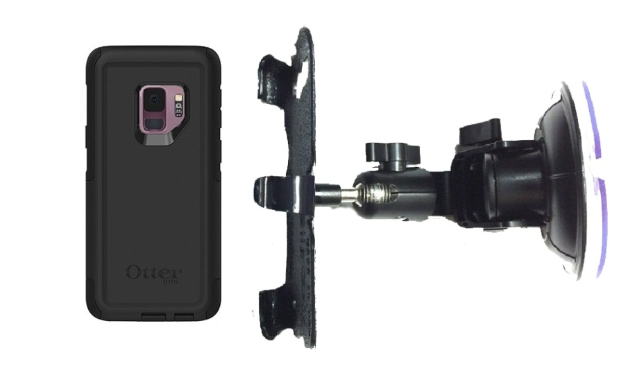 SlipGrip Car DT Holder For Samsung Galaxy S9 Using Otterbox Commuter Case