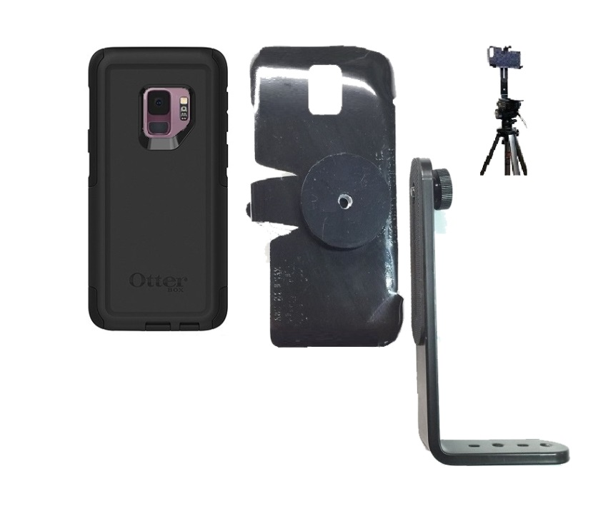 SlipGrip Tripod Mount For Samsung Galaxy S9 Using Otterbox Commuter Case