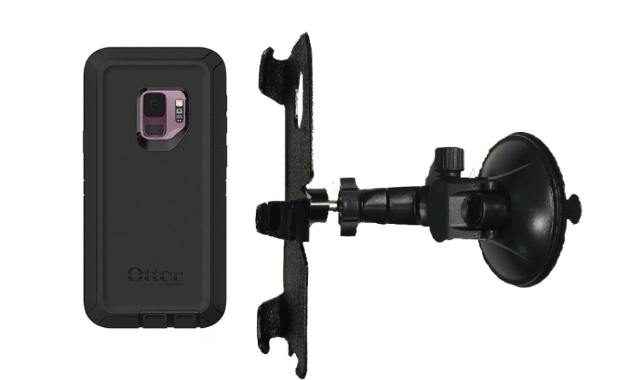 SlipGrip Car Holder For Samsung Galaxy S9 Using Otterbox Defender Case LP