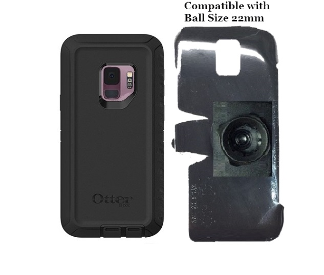 SlipGrip 22mm Ball Holder For Samsung Galaxy S9 Using Otterbox Defender Case