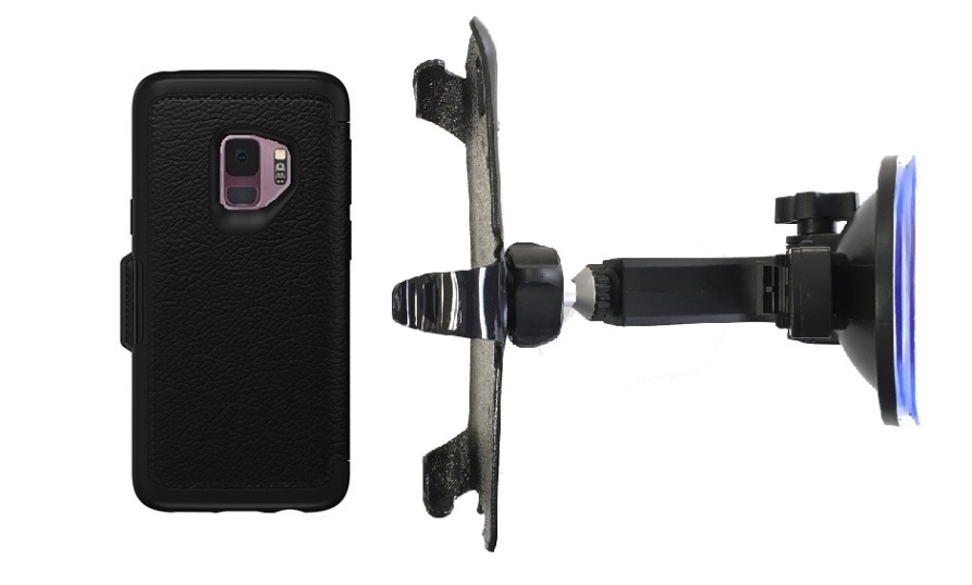 SlipGrip Car Holder For Samsung Galaxy S9 Using Otterbox Strada Case HV