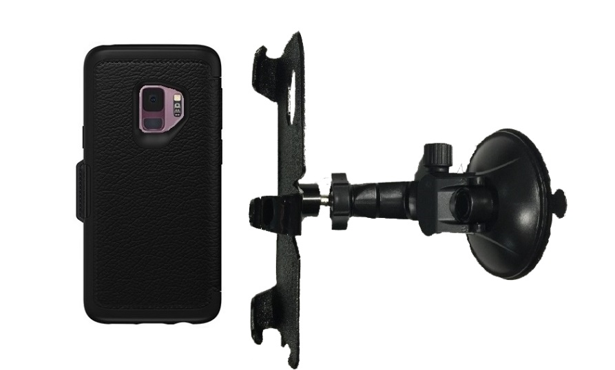 SlipGrip Car Holder For Samsung Galaxy S9 Using Otterbox Strada Case LP
