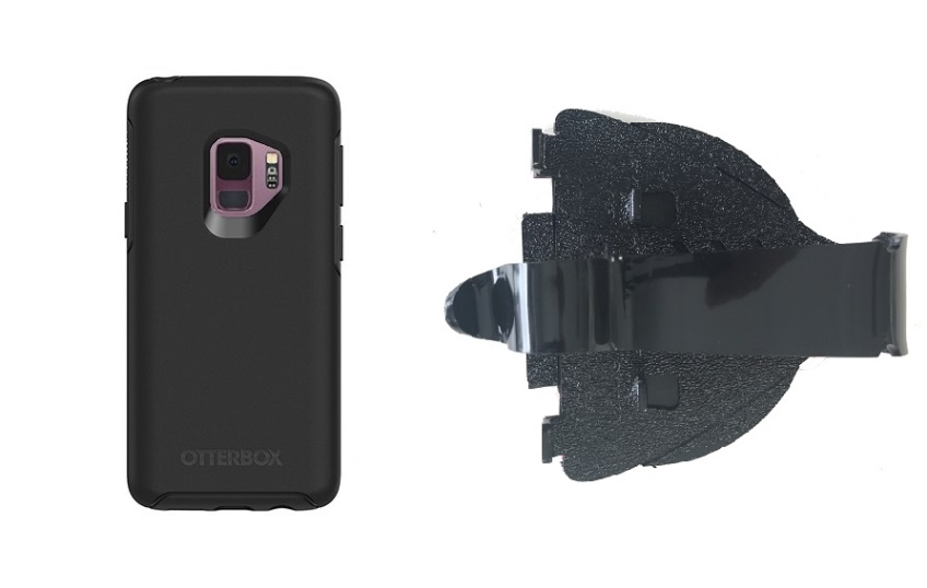 SlipGrip Car Dashboard Holder For Samsung Galaxy S9 Using Otterbox Symmetry Case