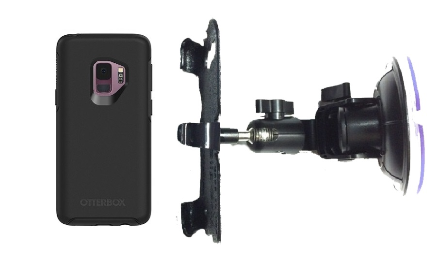 SlipGrip Car DT Holder For Samsung Galaxy S9 Using Otterbox Symmetry Case