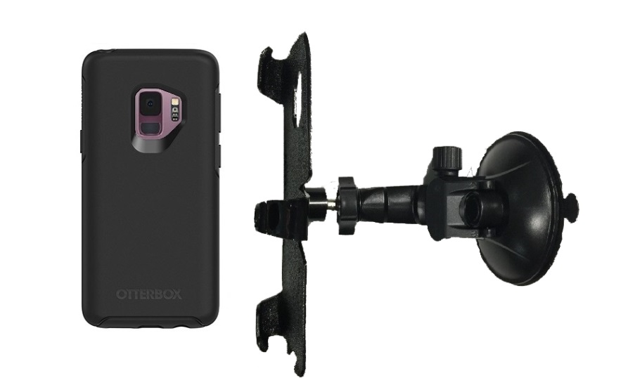 SlipGrip Car Holder For Samsung Galaxy S9 Using Otterbox Symmetry Case LP