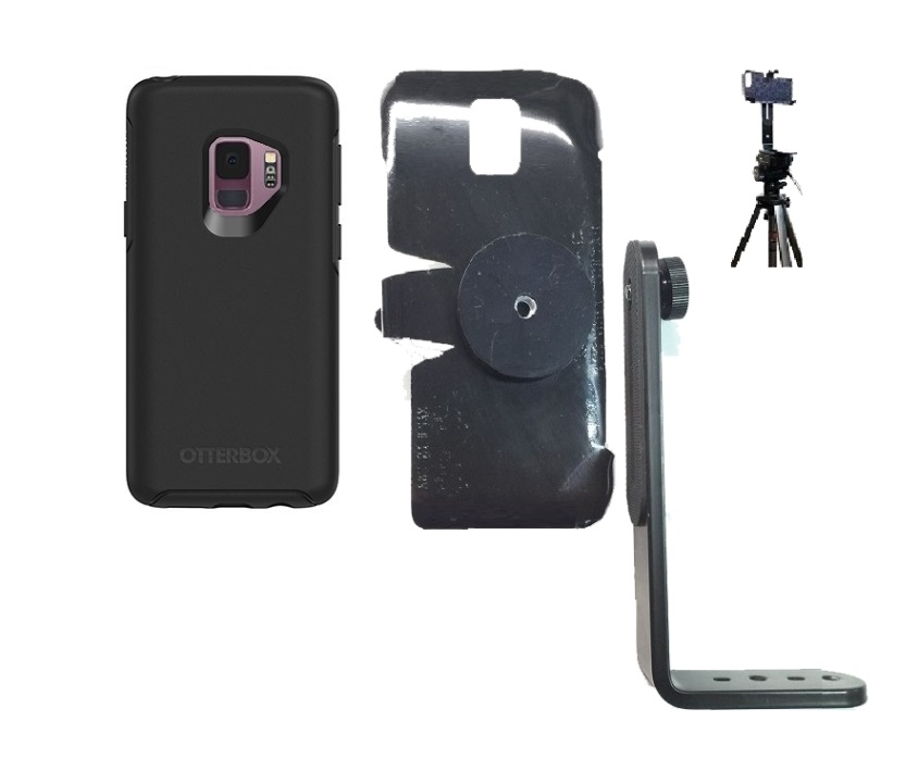 SlipGrip Tripod Mount For Samsung Galaxy S9 Using Otterbox Symmetry Case