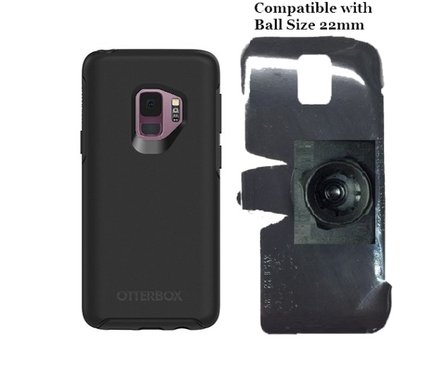 SlipGrip 22mm Ball Holder For Samsung Galaxy S9 Using Otterbox Symmetry Case