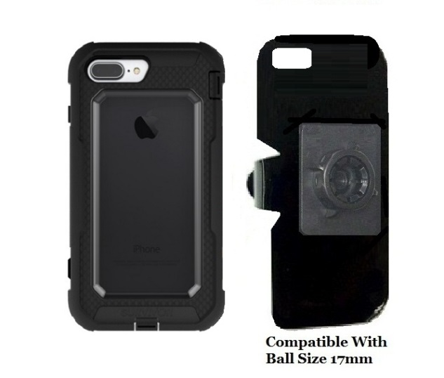 separation shoes 566e2 6bb4d SlipGrip 17MM Holder Designed For Apple iPhone 8 Plus Griffin Survivor  All-Terrain Case