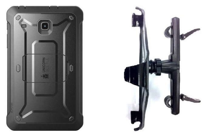 SlipGrip Headrest Mount Designed For Samsung Galaxy Tab A 8.0 2017 Tablet SupCase Beetle Pro Case