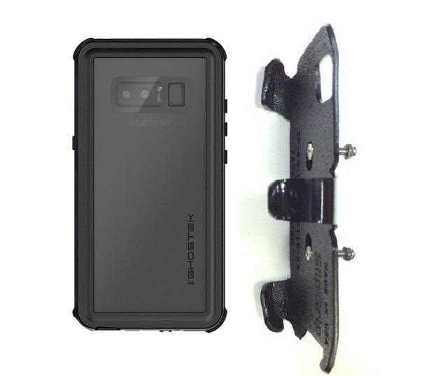 new concept cadbc 4a60e SlipGrip RAM-HOL Holder For Samsung Galaxy Note 8 Using Ghostek Nautical 2  WP Case