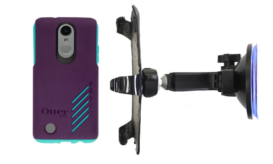 SlipGrip Car Holder For LG Aristo Phone Using Otterbox Achiever Case HV