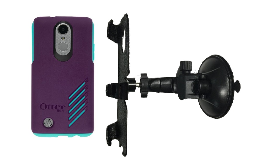 SlipGrip Car Holder For LG Aristo Phone Using Otterbox Achiever Case LP