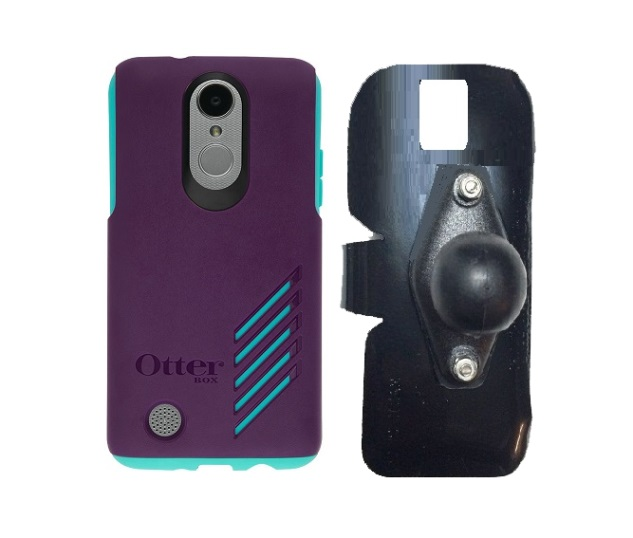 SlipGrip RAM Holder For LG Aristo Phone Using Otterbox Achiever Case