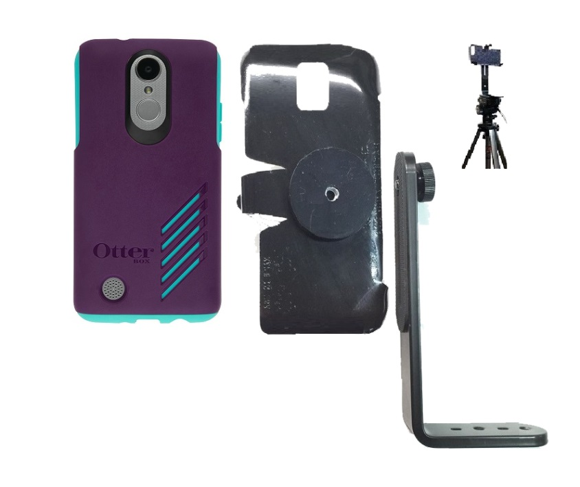 SlipGrip Tripod Mount For LG Aristo Phone Using Otterbox Achiever Case