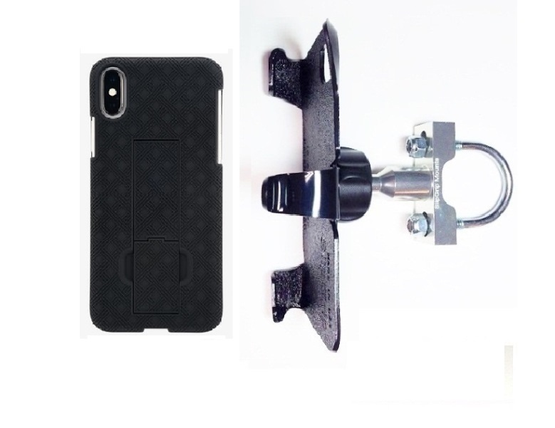 SlipGrip U-Bolt Bike Holder For Apple iPhone X Using Verizon KickStand Case