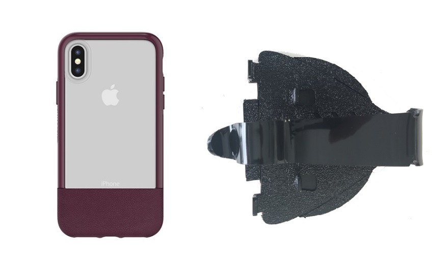 SlipGrip Car Dashboard Holder For Apple iPhone X Using Otterbox Statement Case