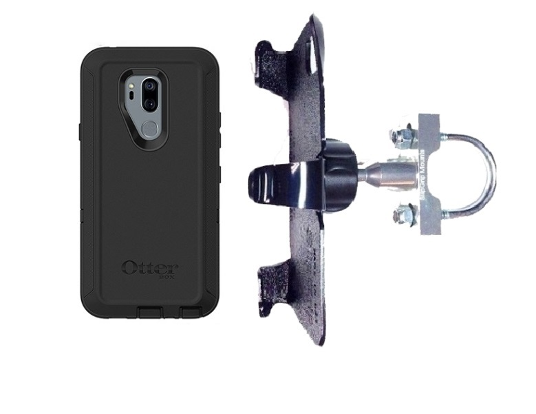 SlipGrip U-Bolt Bike Holder For LG G7 Thin Q Using Otterbox Defender Case