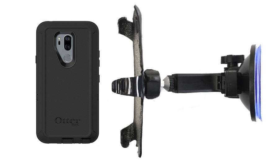 SlipGrip Car Holder For LG G7 Thin Q Using Otterbox Defender Case HV