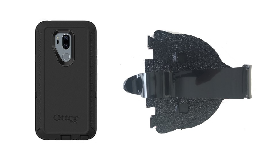 SlipGrip Car Dashboard Holder For LG G7 Thin Q Using Otterbox Defender Case