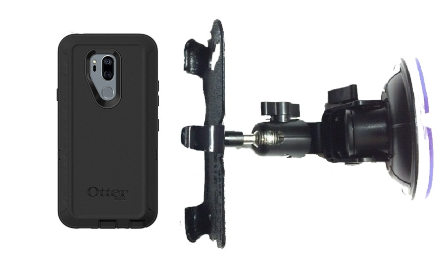 SlipGrip Car DT Holder For LG G7 Thin Q Using Otterbox Defender Case
