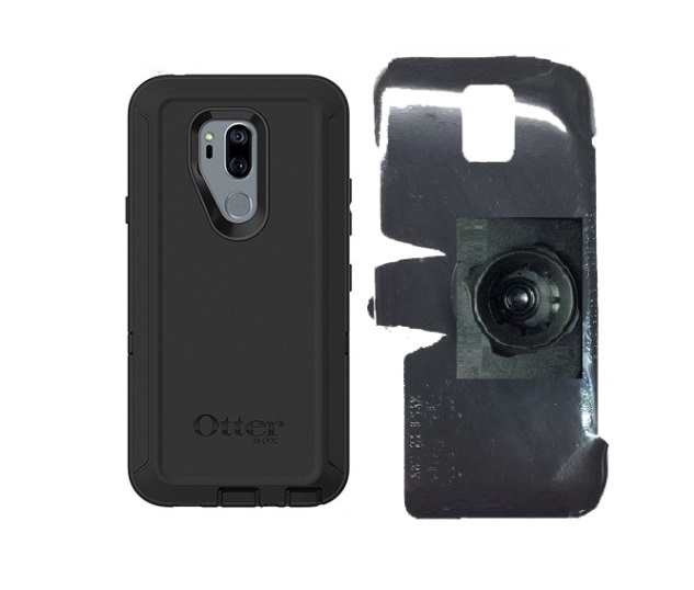 SlipGrip 22mm Ball Holder For LG G7 Thin Q Using Otterbox Defender Case