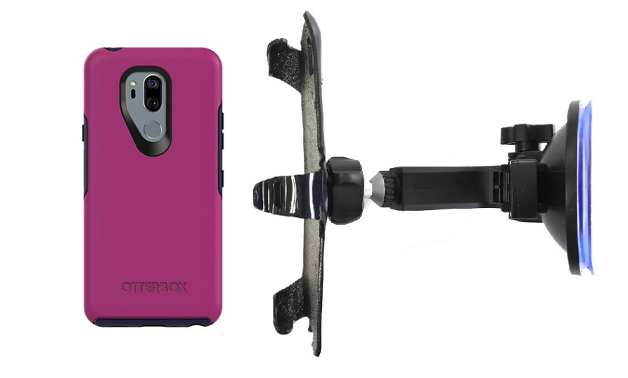 SlipGrip Car Holder For LG G7 Thin Q Using Otterbox Symmetry Case HV