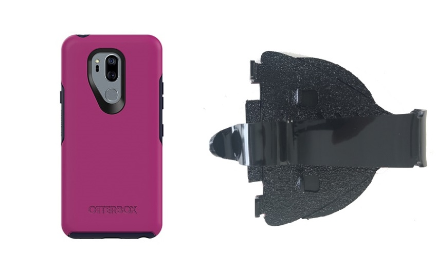 SlipGrip Car Dashboard Holder For LG G7 Thin Q Using Otterbox Symmetry Case