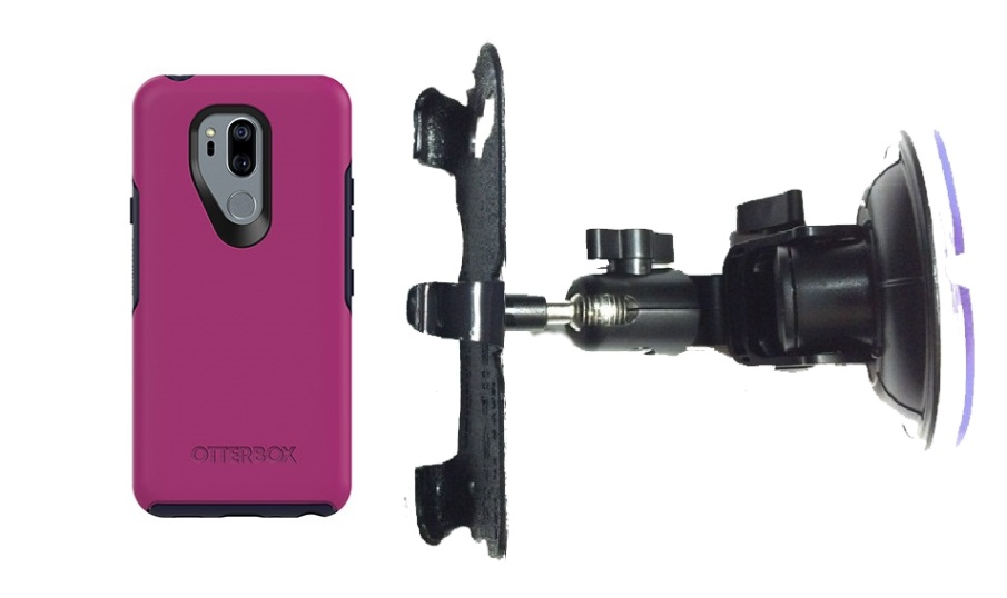 SlipGrip Car DT Holder For LG G7 Thin Q Using Otterbox Symmetry Case