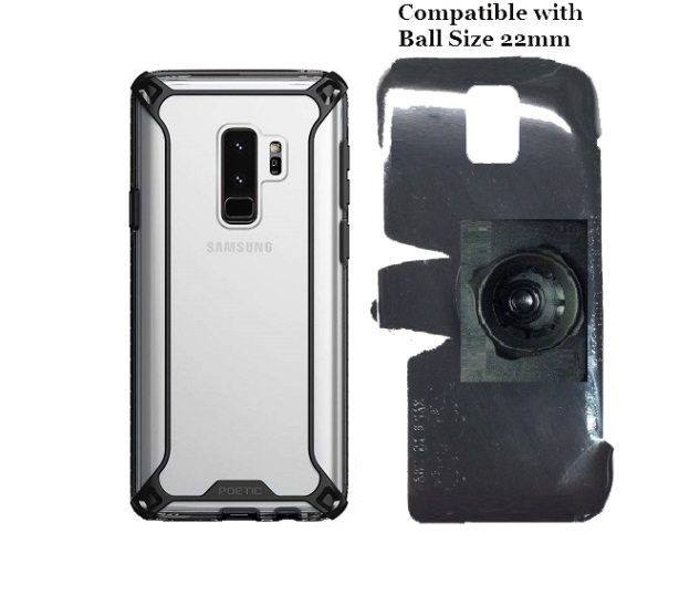 SlipGrip 22mm Ball Holder Designed For Samsung Galaxy S9 Plus Poetic Affinity Case