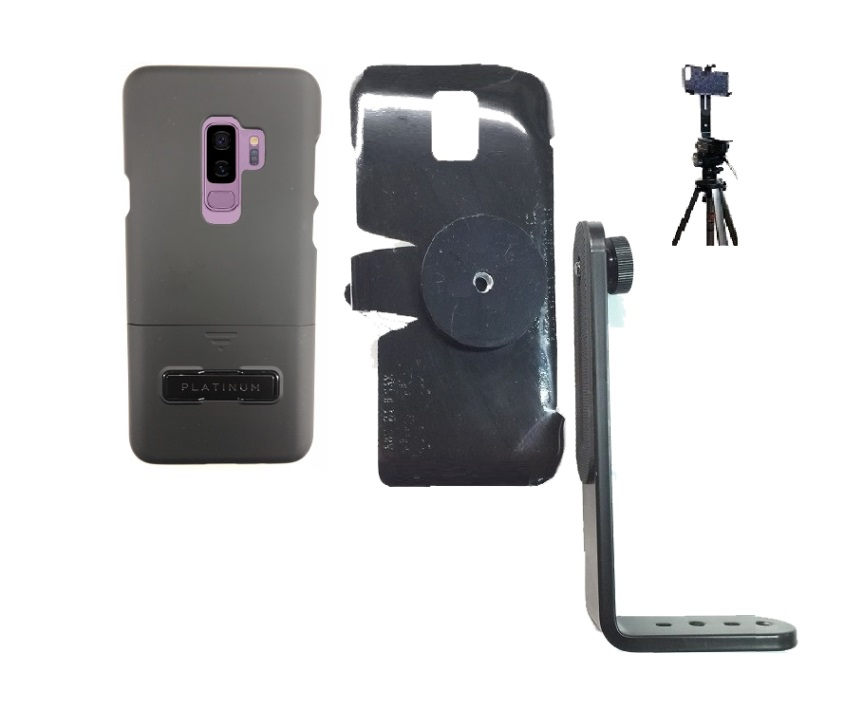 new style 2a510 ed65a SlipGrip Tripod Mount For Samsung Galaxy S9 PLus Using Best Buy Platinum  KickStand Case
