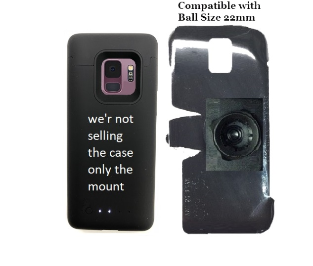 SlipGrip 22mm Ball Holder Designed For Samsung Galaxy S9 Mophie Juice Pack Case